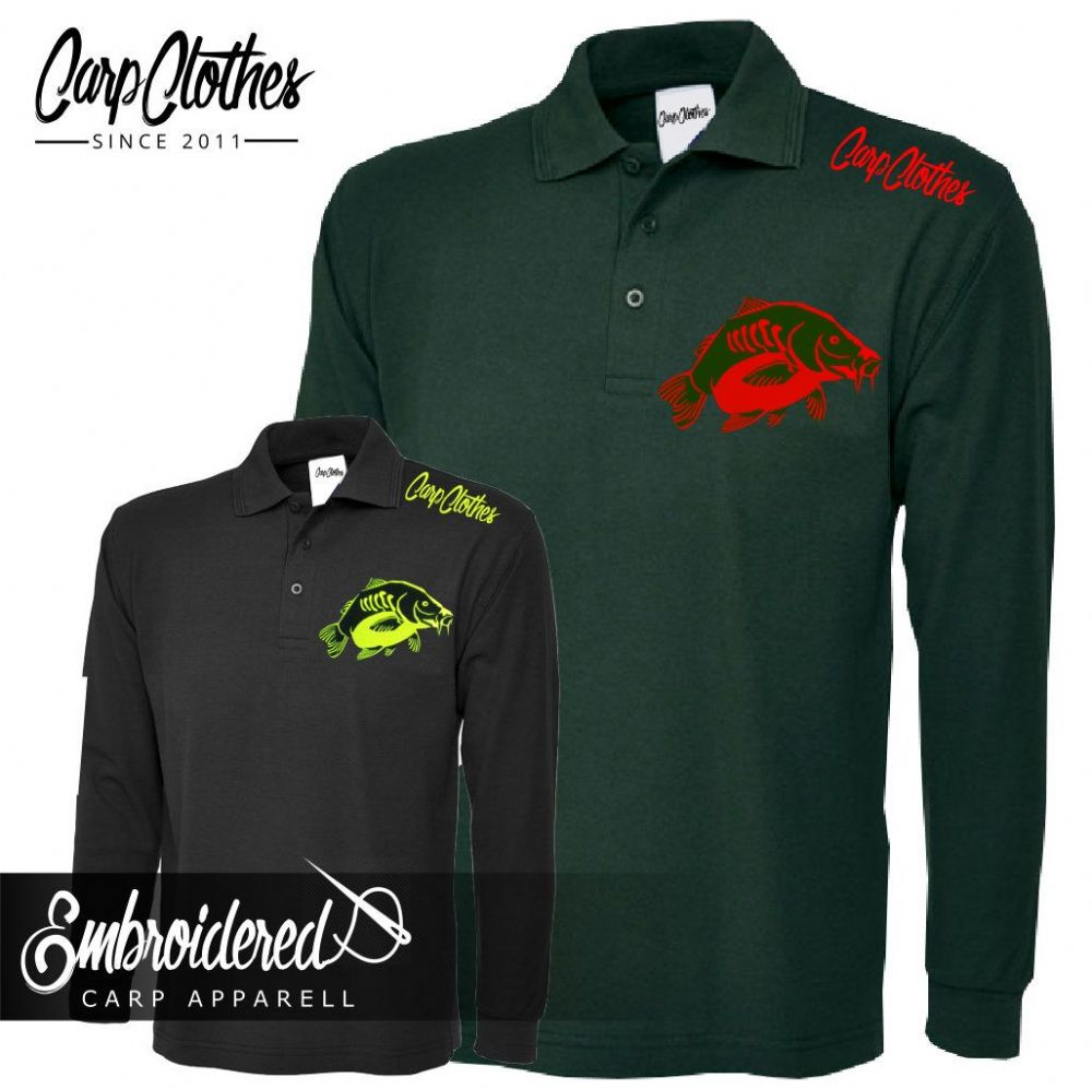023 EMBROIDERED CARP LS POLO